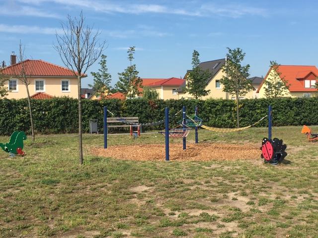 Hängematte auf dem Spielplatz Berlin-Biesdorf