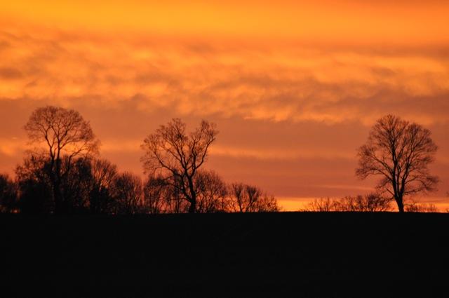Sonnenaufgang in Neuenhagen bei Berlin