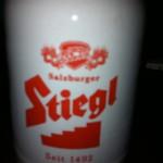 Stiegl Bier in der Schmankerl-Huette in Neuenhagen