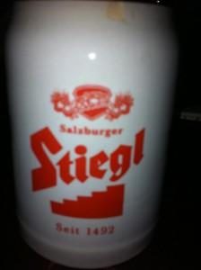 Stiegl Bier in der Schmankerl-Hütte in Neuenhagen