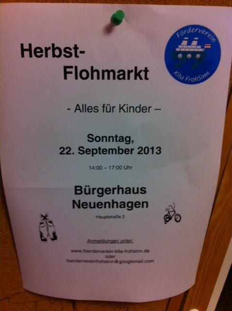 Kinder-Flohmarkt der Kita-FrohSinn im Bürgerhaus Neuenhagen